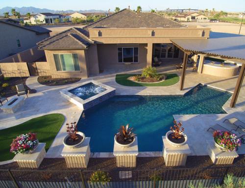Anasazi Swimming Pool and Spa Aerial
